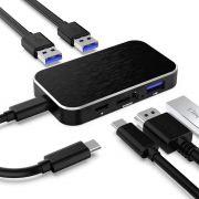 Adaptador USB-C para HDMI 2.0 4k Hub 3 portas usb 3.0