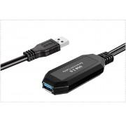 Cabo Extensor USB 3.0 5m até 4.8 GBPS Ativo Sem Fonte