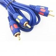 Cabo Rca Audio 1,8 Metro Blindado Plug Banhado Ouro