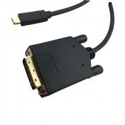 Cabo USB-C para DVI 1,8m USB Type-c 3.1 Thunderbolt 3 P/ DVI