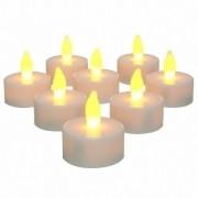 Kit Com 12 Velas De Led Decorativas - Baterias Inclusas