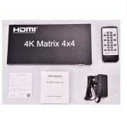 Matrix HDMI 4K 4x4 Splitter Seletor 4K  4 entradas 4 saidas