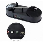Toca Discos Vinil Lp Mp3 Usb Conversor Direto No Pen Drive