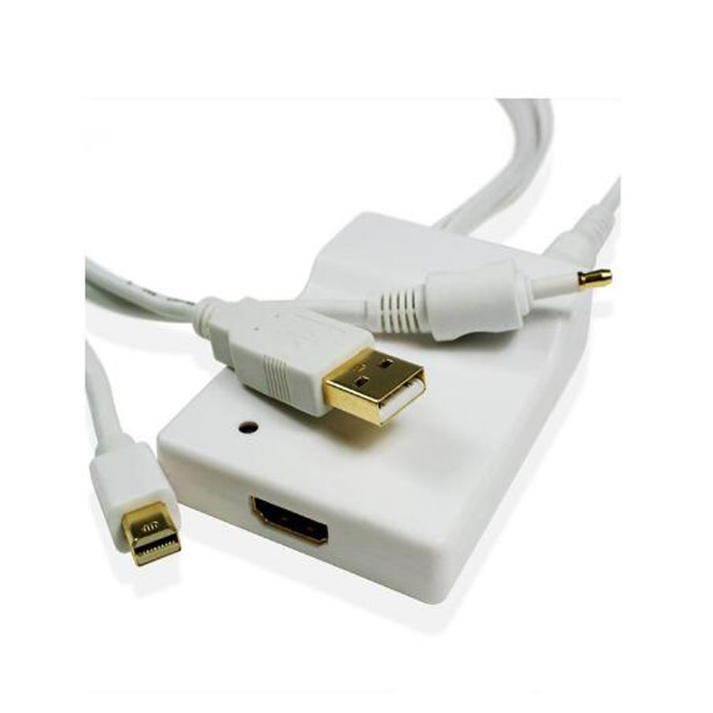 Adaptador Conversor Mini Displayport + Audio Optico Par Hdmi