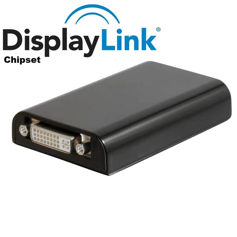 Adaptador Vídeo Usb 2.0 3.0 Dvi Chipset Displaylink Ic Placa De Video Usb Externa Usb Displaylink