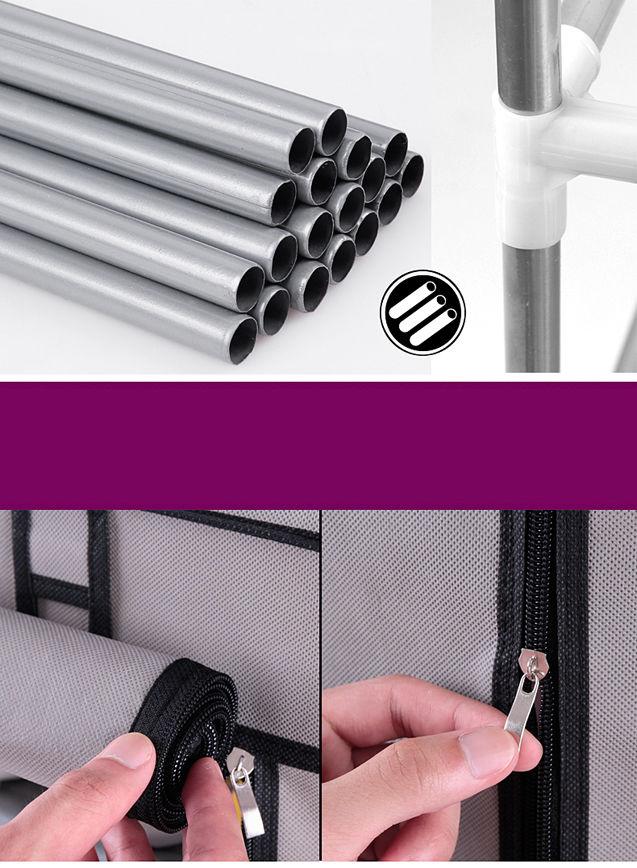 Armario Sapateira c/ 12 Prateleiras Em Tecido Com Ziper