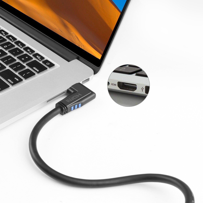 Cabo HDMI 2.0 1m 90º Graus Lado Esquerdo 4 k X 2 K/60 hz --- P0030 E - 3210