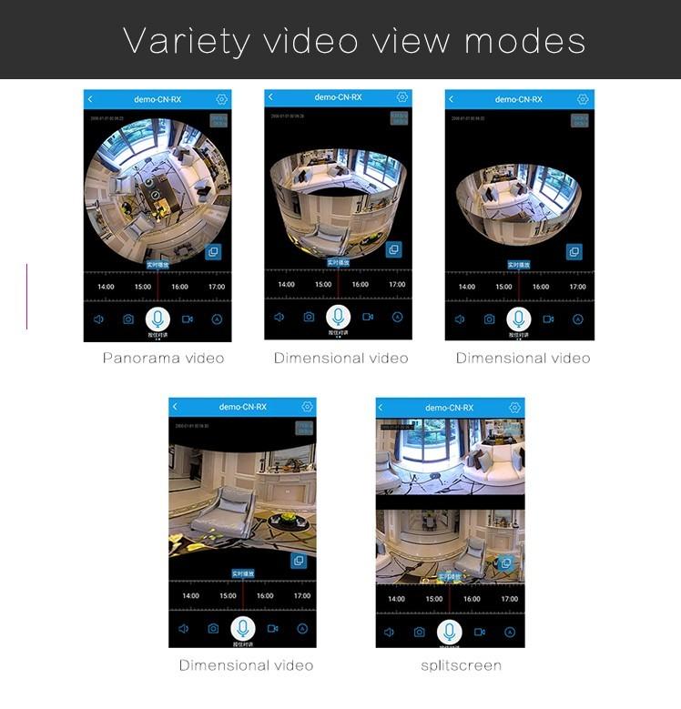 Camera Lampada 360º wifi IP HD espiã 360Eye S