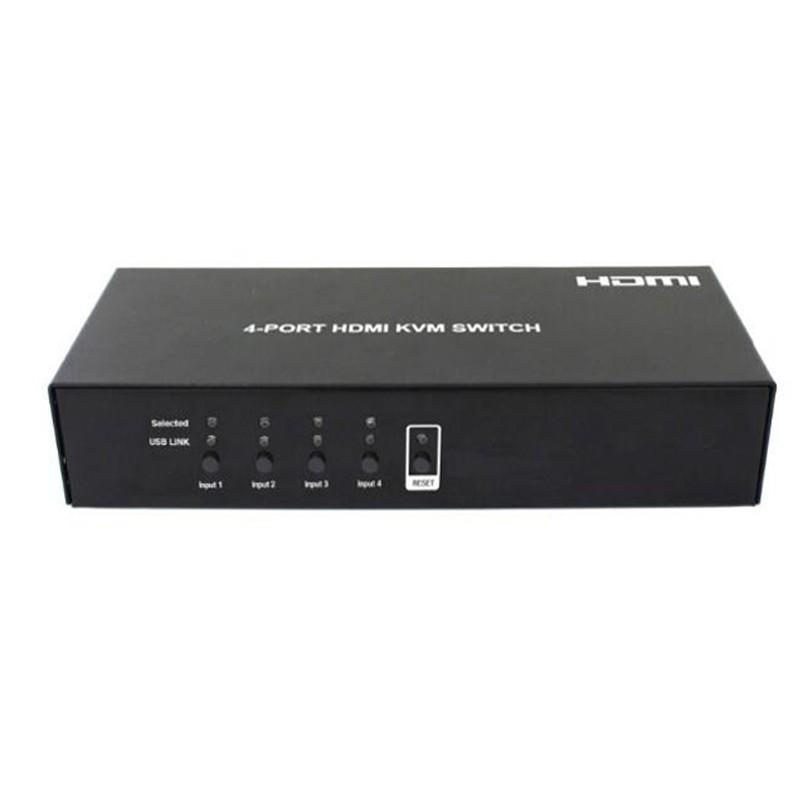 Chaveador KVM HDMI Usb 4 Portas