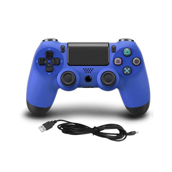 Controle Playstation 4 C/ Fio 2m Doubleshock 4 Azul