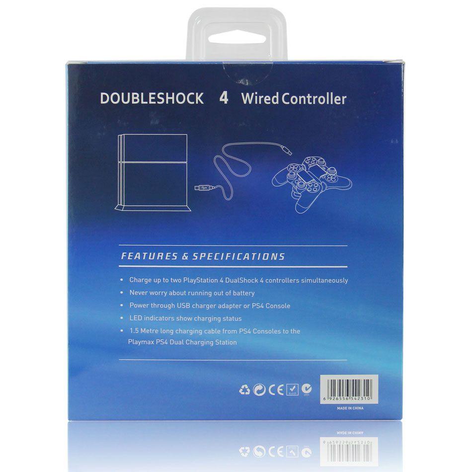 Controle Playstation 4 C/ Fio 2m Doubleshock 4 Azul