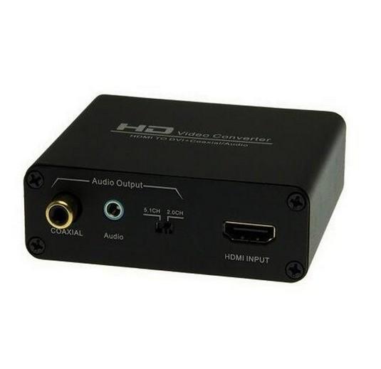 Conversor Adaptador Hdmi Para Dvi Com Audio Coaxial Stereo