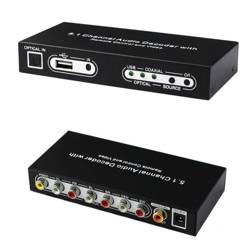 Conversor de Audio 5.1 CH Digital DTS/AC3 com entrada USB