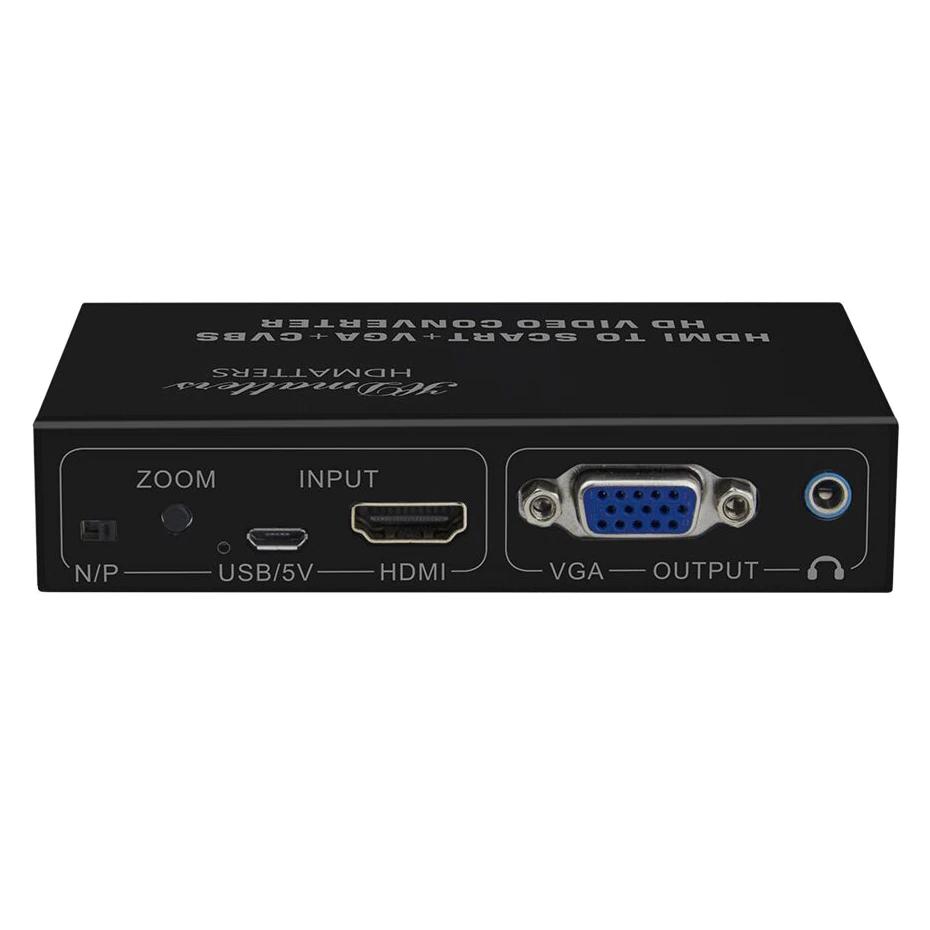Conversor HDMI para VGA AV RCA Scart Divisor Simultaneo
