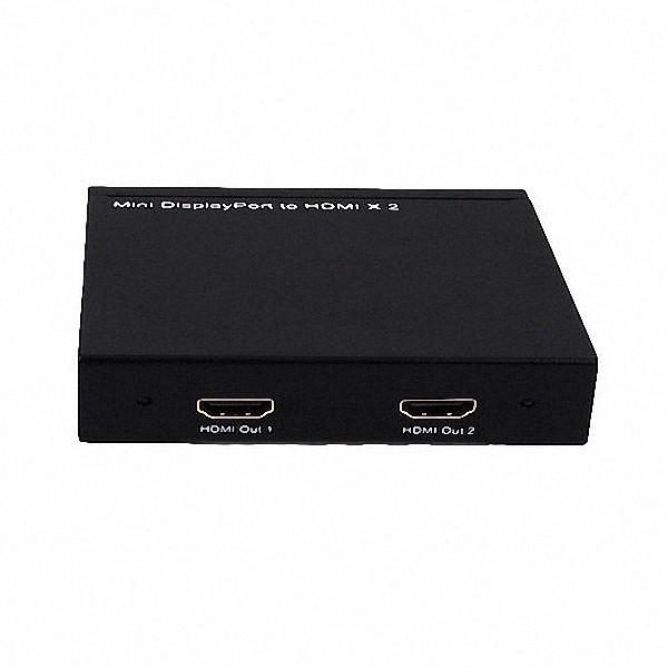 Conversor Mini Dp Displayport Para Hdmi Com 2 Saidas