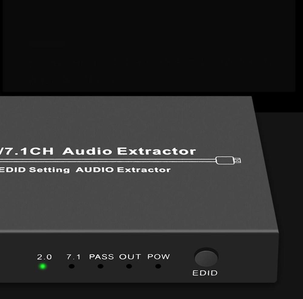 Extrator de audio HDMI Ch 4k 30Hz 5.1CH DTS2 LPCM 2CH