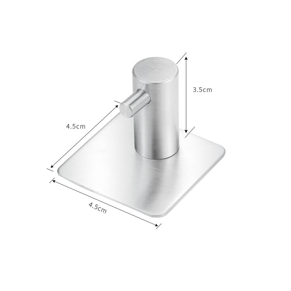 Gancho Parede Aço inox escovado 304 Cabide Pendurar Kit C/ 4