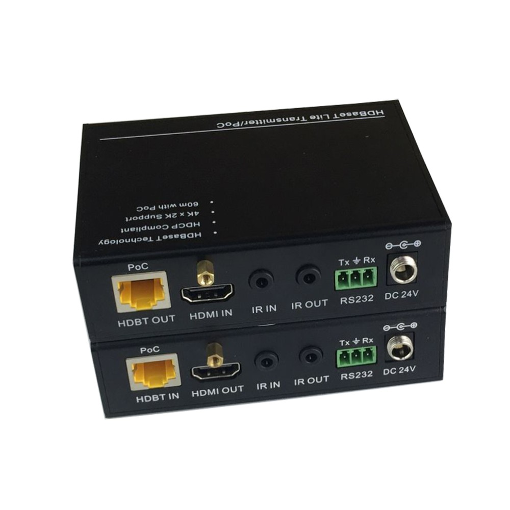 Kit Extensor HDMI 4K HDbaseT Profissional RS232 Bi-Direciona