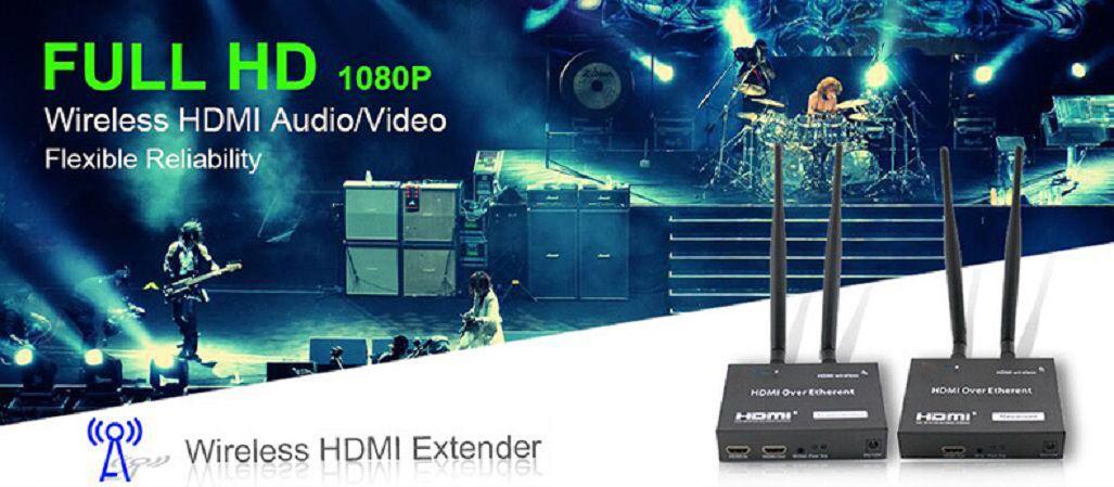 Kit Extensor HDMI Sem Fio Wireless até 100m Função IR 1080p