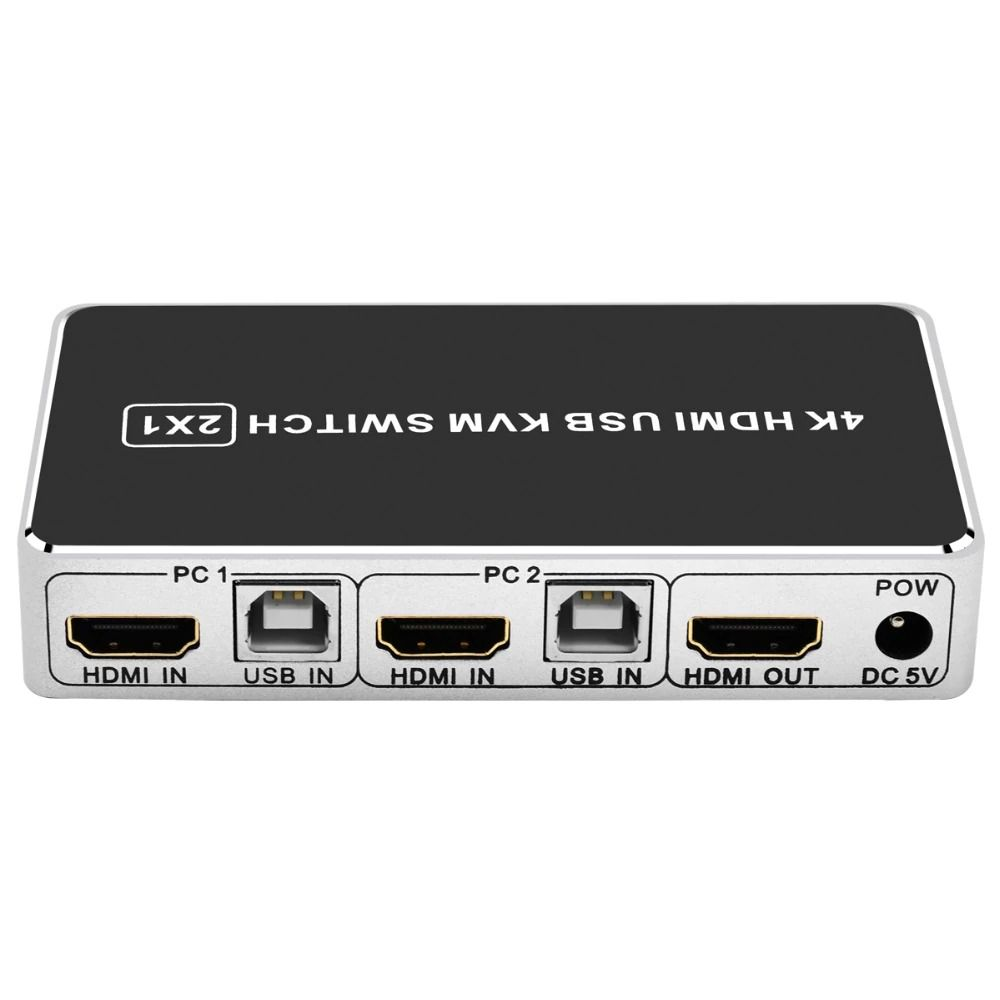 KVM HDMI USB 2x1 IOS Win10 HDMI 2 IN 1 OUT HDMI V1.4 4K 30Hz