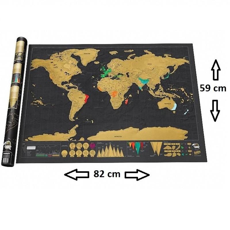 Mapa Mundi De Raspar Grande 82x59 Scratch Deluxe Raspadinha