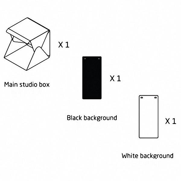 Mini Estúdio Portátil Para Foto Produtos Luz iluminação Led 22x24x23