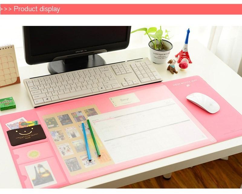 Organizador de Mesa de Escritório Home Office 70x32 Rosa