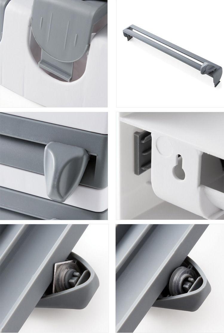 Suporte Porta Rolo Toalha Aluminio Filme Cozinha 3 X 1 Papel branco
