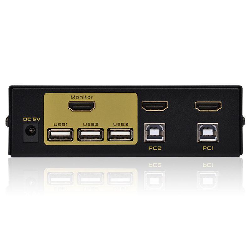 USB Switch KVM 2x1 HDMI Switcher 2X1 windows10  7 8 XP