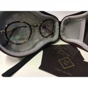 c23294149 Óculos Armação Grau Feminino Redondo Retrô Wiikglass Marrom