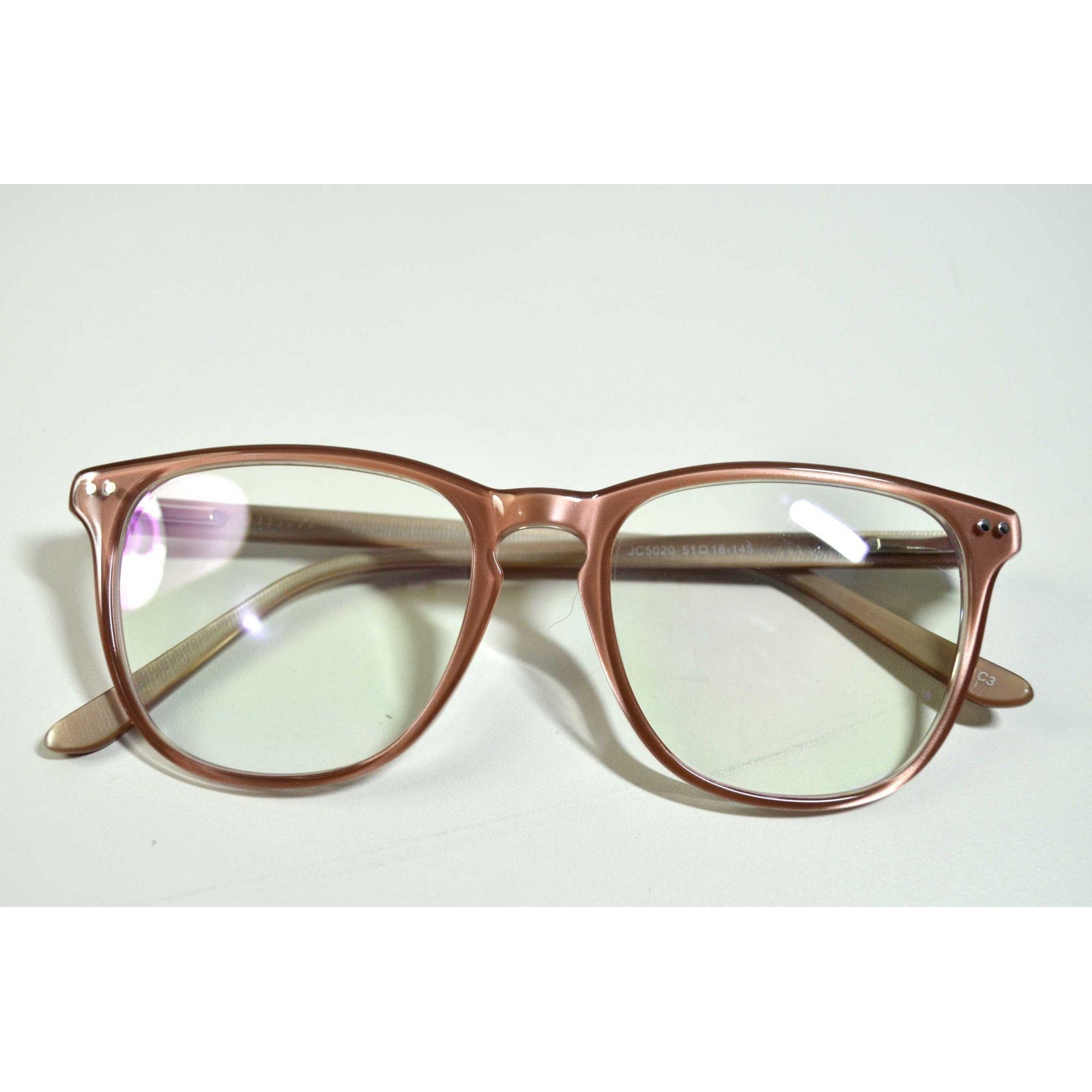 9102cf38f Armação Óculos Grau Feminino Estilo Selena Nude