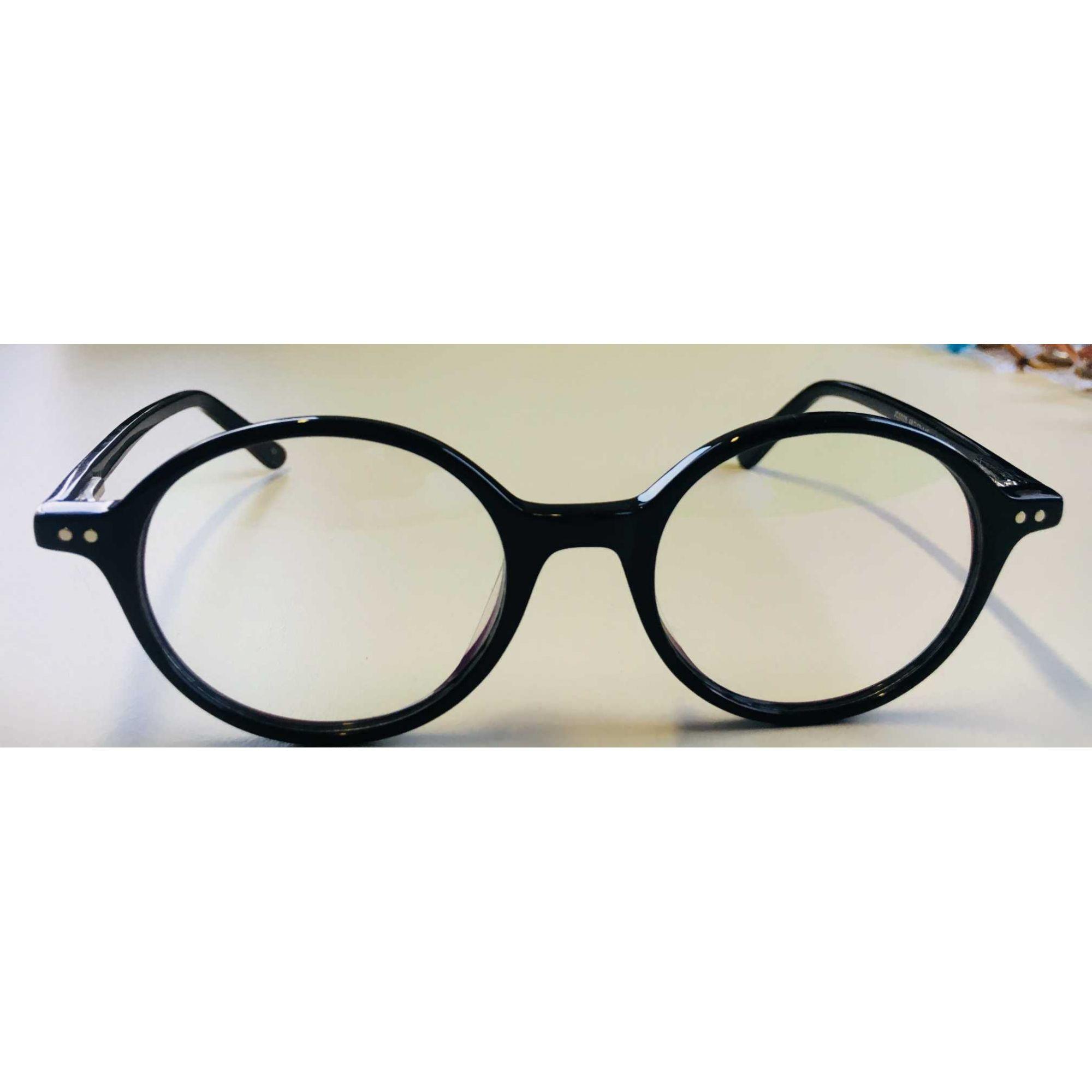 812526aa8 Armação Óculos Grau Unissex Redondo Acetato Jô Preto