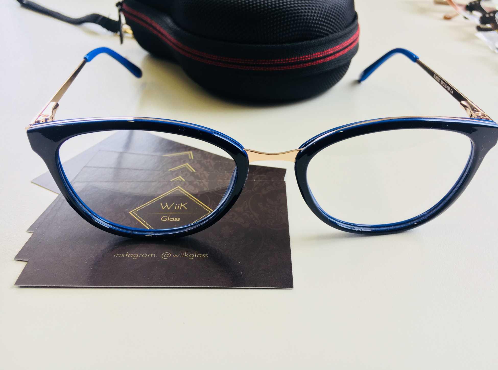 fa7766a69 Óculos Armação Grau Feminino Fashion Wiikglass 2018 Azul