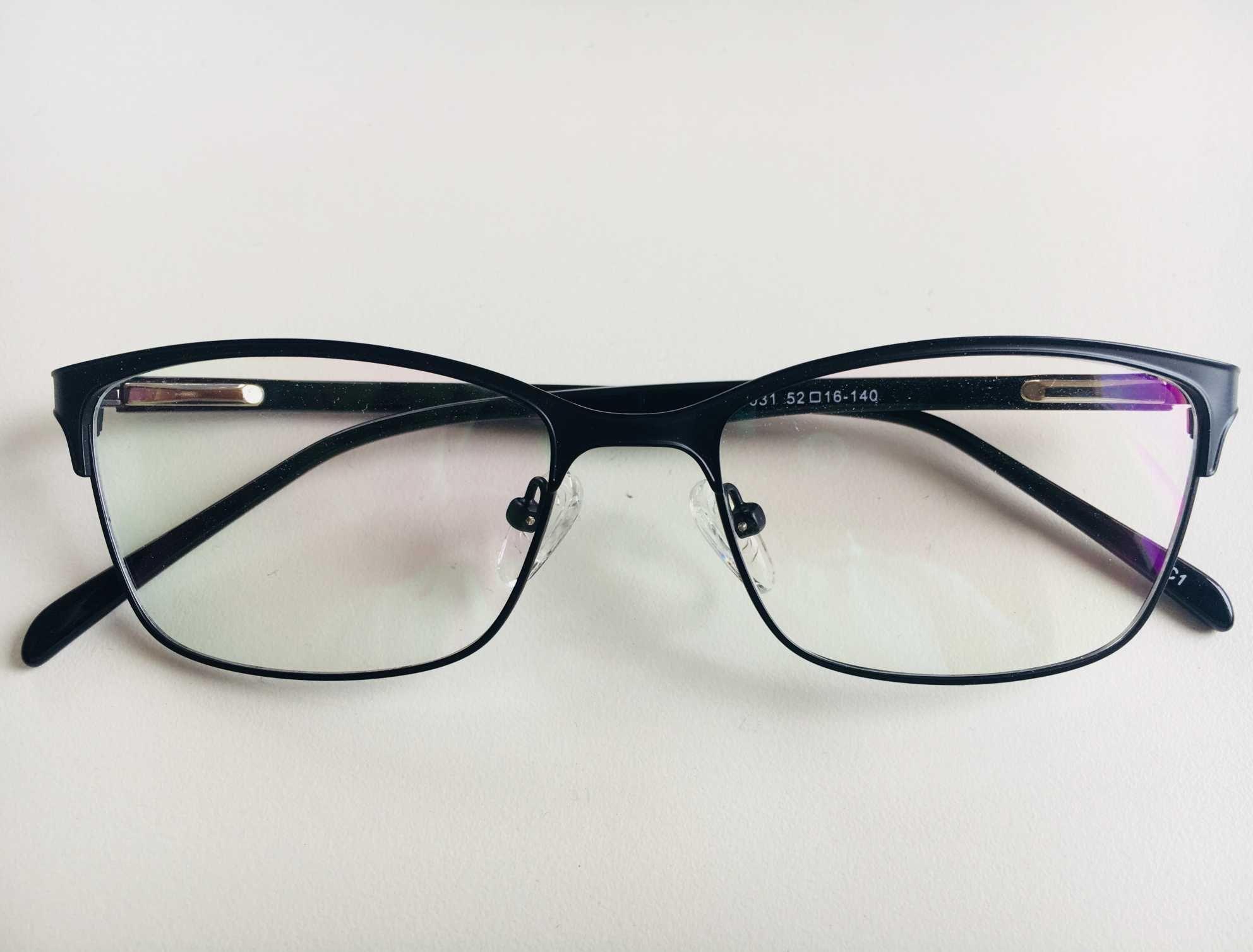97bbcd5b894e7 Óculos Armação Grau Feminino Metal Moda 2018 Preto