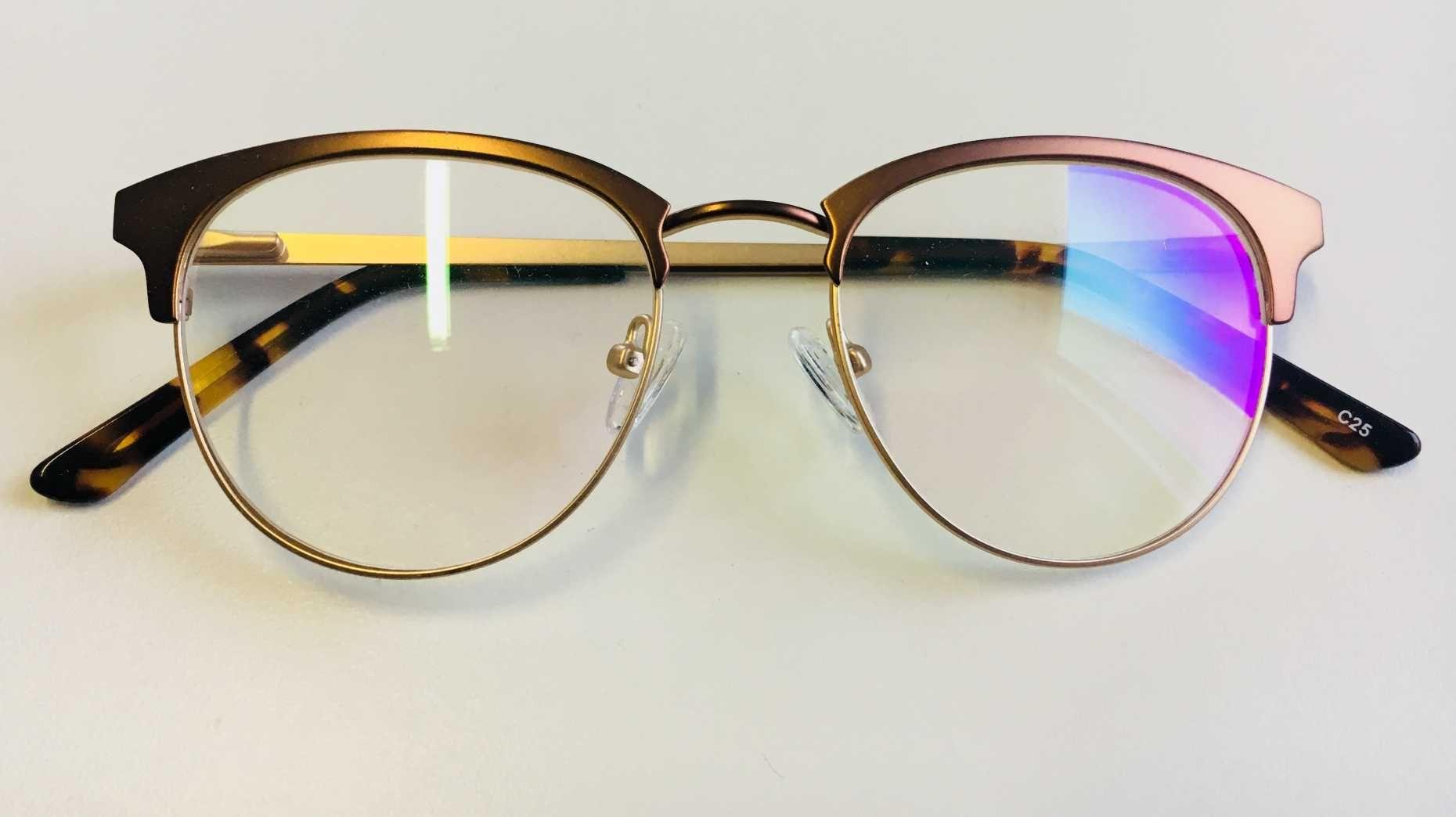 7df71a75e Óculos Armação Grau Feminino Redondo Geek Dourado