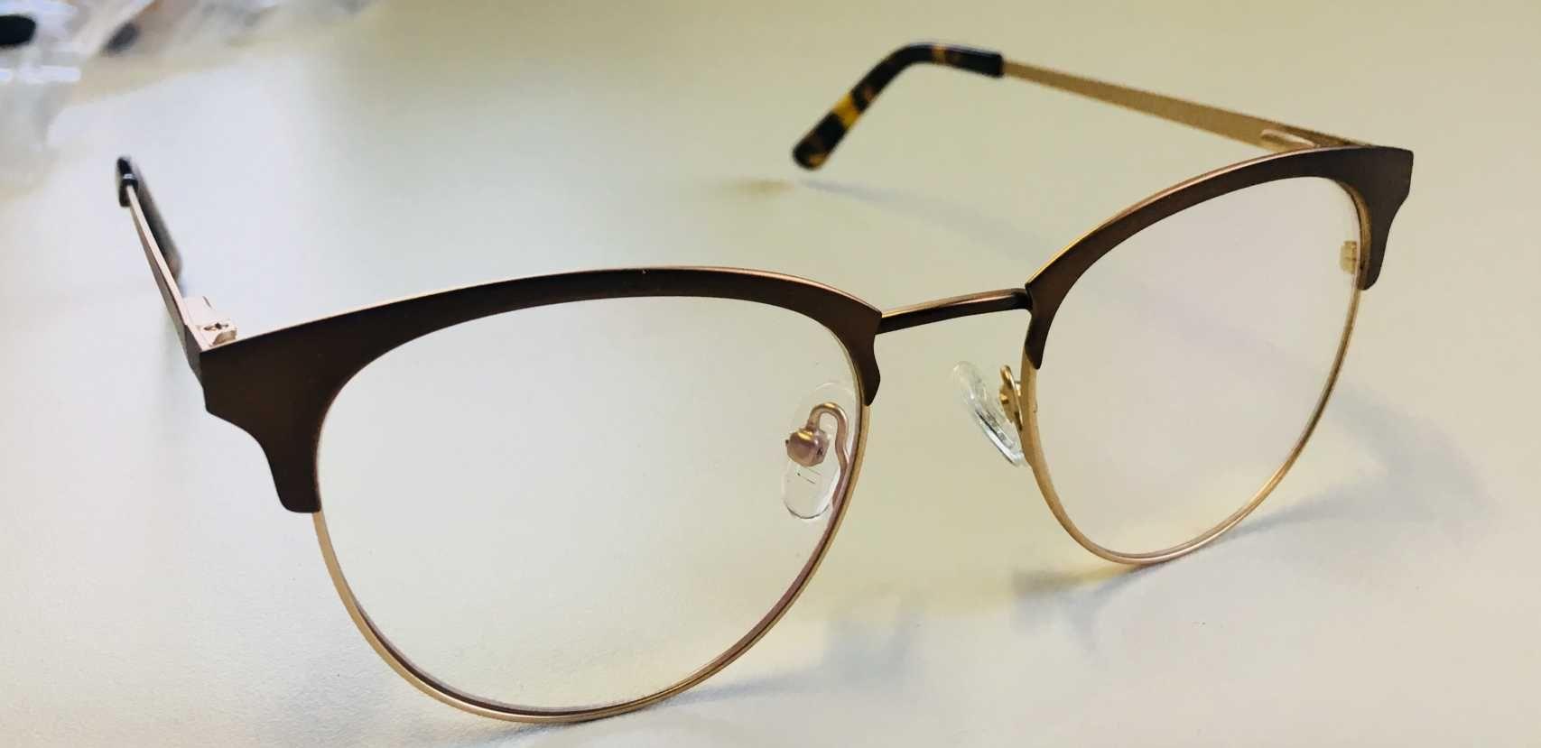 facb0b6a7784d ... Óculos Armação Grau Feminino Redondo Geek Dourado ...