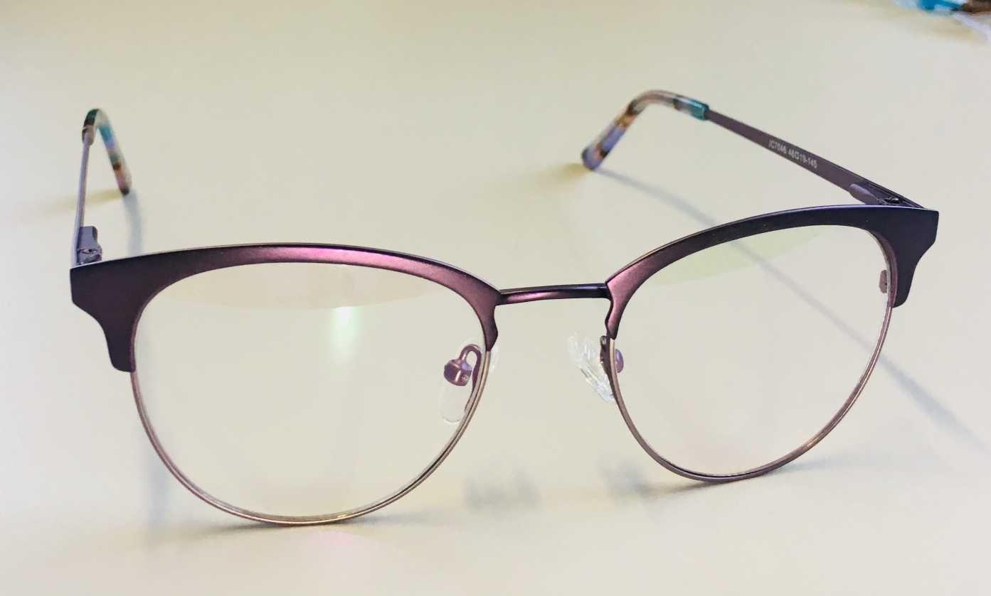 f3d92a0b1 Óculos Armação Grau Feminino Redondo Geek Lilás