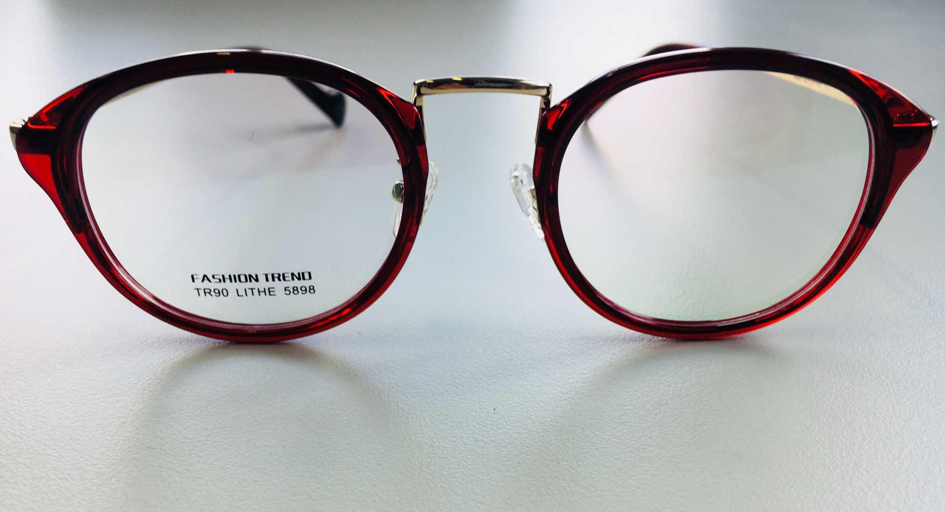 1138a06808a37 Óculos Armação Grau Feminino Redondo Wiikglass Geek Vermelho
