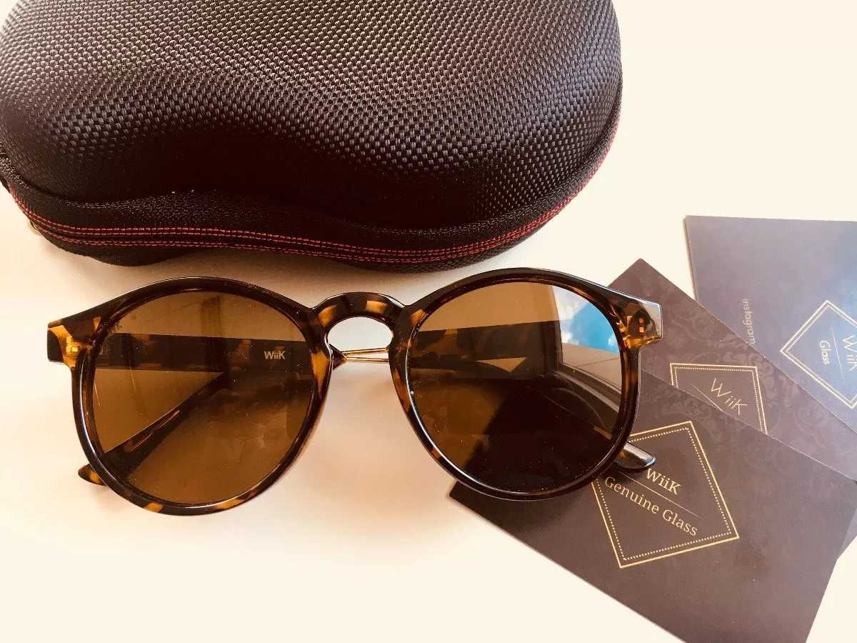 9a97ee2c10c38 Óculos De Sol Feminino Redondo Wiikglass 2018 Tartaruga