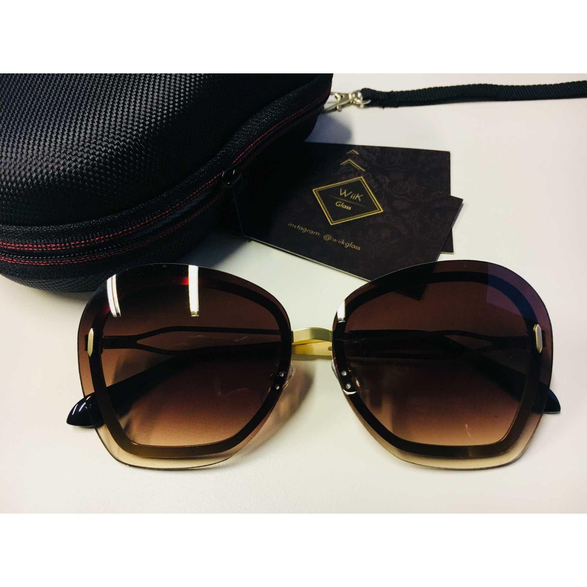 Óculos De Sol Feminino Wiikglass Grande Top 2018 Marrom 1cb13fb3f7