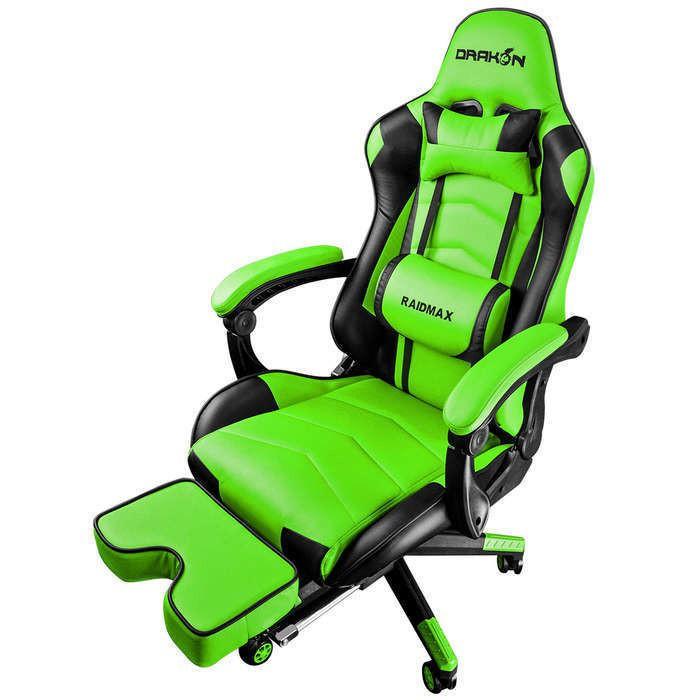 Cadeira Gamer Drakon 709 Raidmax Preto e verde