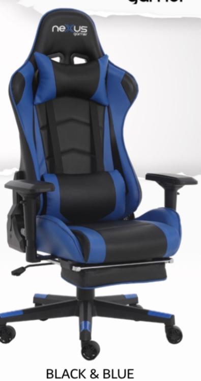 Cadeira Gamer Scorpion Nexus Azul com Preto