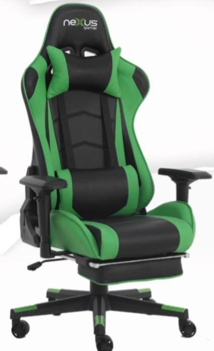 Cadeira Gamer Scorpion Nexus Verde com Preto