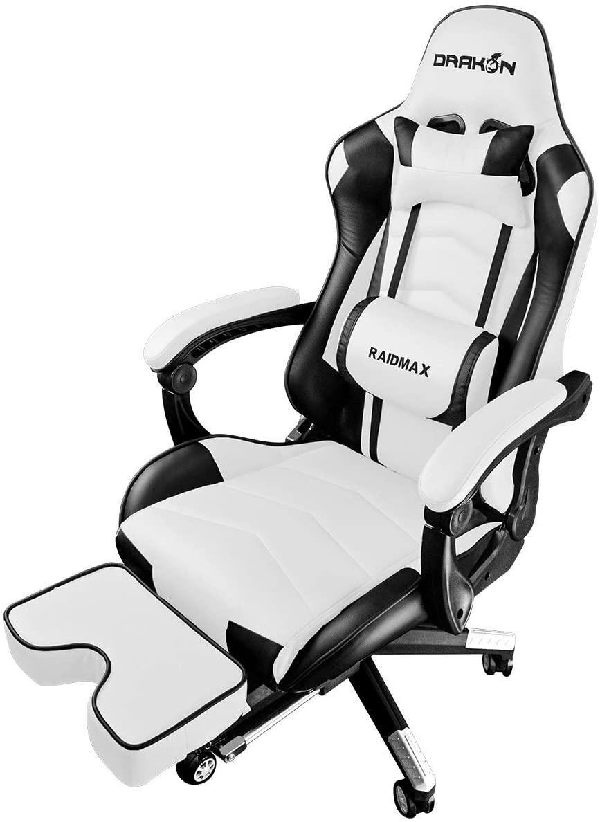 Cadeira Gamer Super Confortável DK-709WH Cor Branco - Raidmax