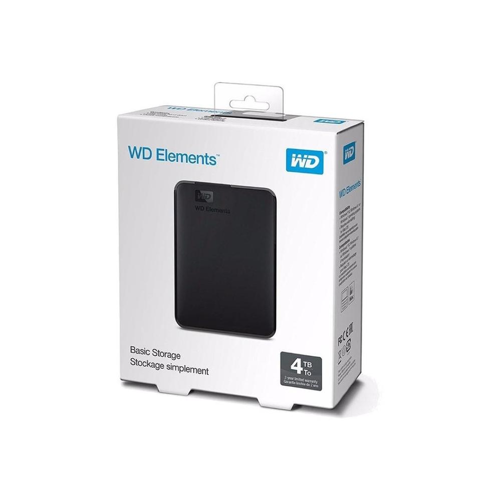 HD Externo Portatil 4TB WD Elements