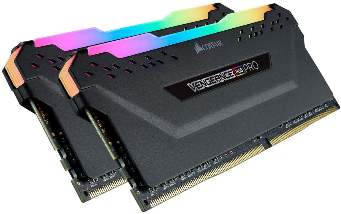 Memória Corsair RAM Vengeance RGB Pro color Black 64GB 2x32GB