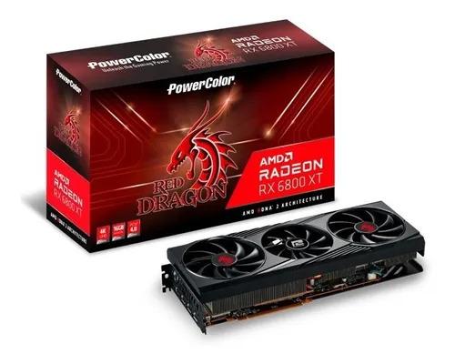 Placa De Video Radeon Rx 6800 Xt Powercolor 6gbd6-3dhr/oc