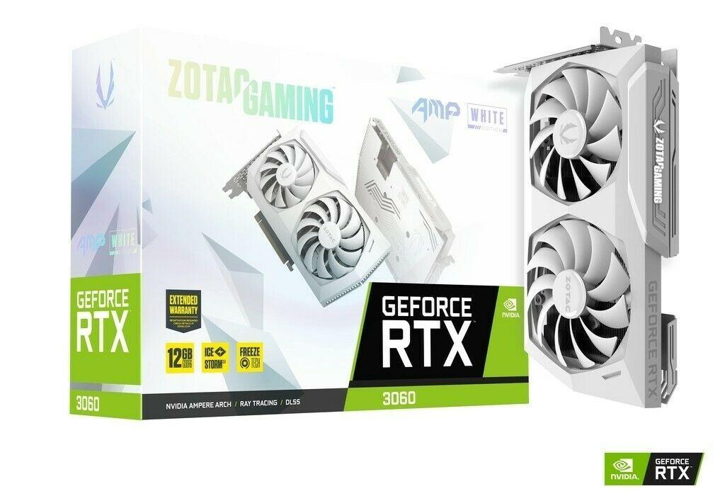 Placa de video RTX 3060 AMP White Zotac