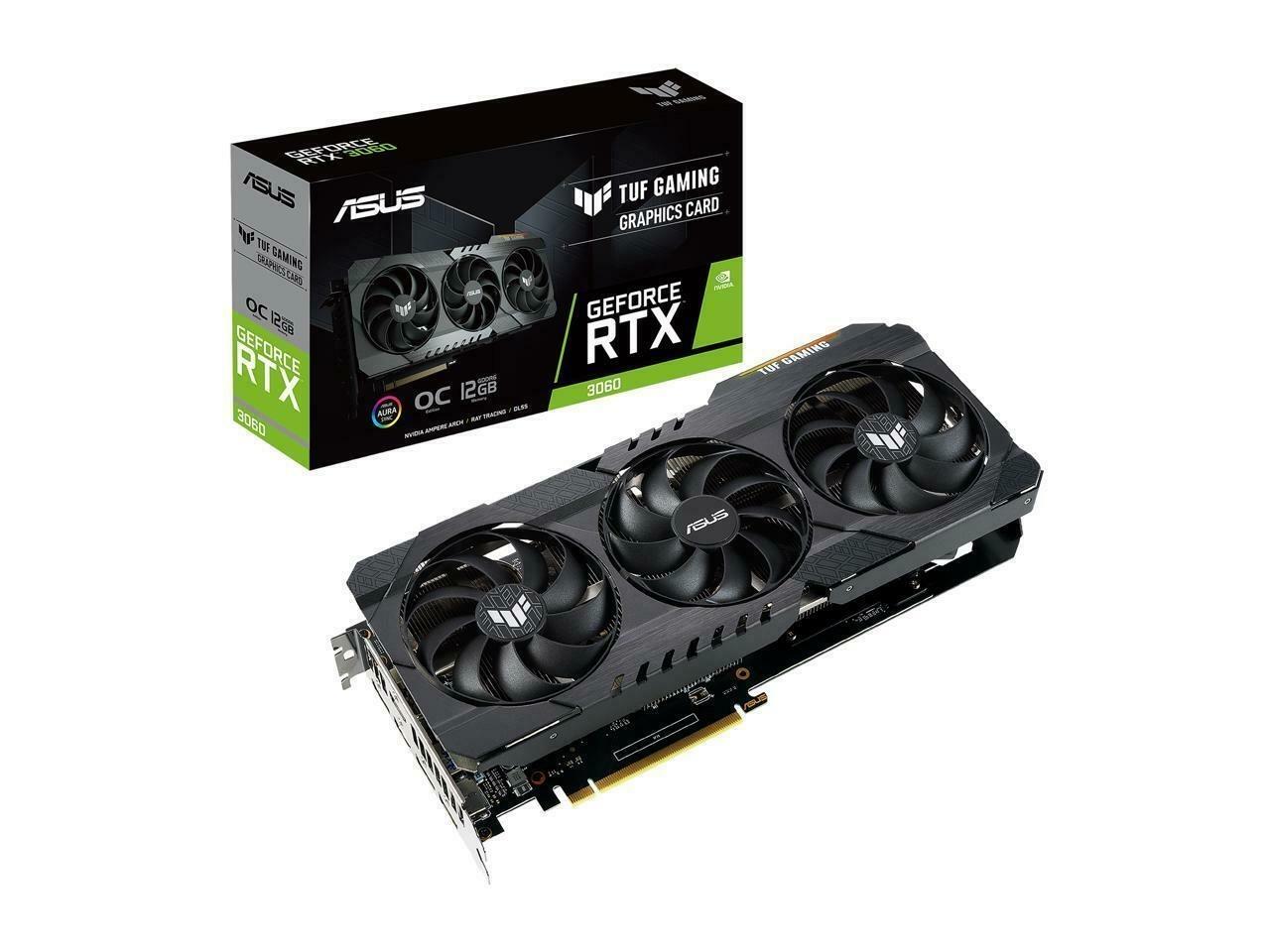 Placa de Video RTX 3060 Asus TUF Gaming OC EDITION 12GB