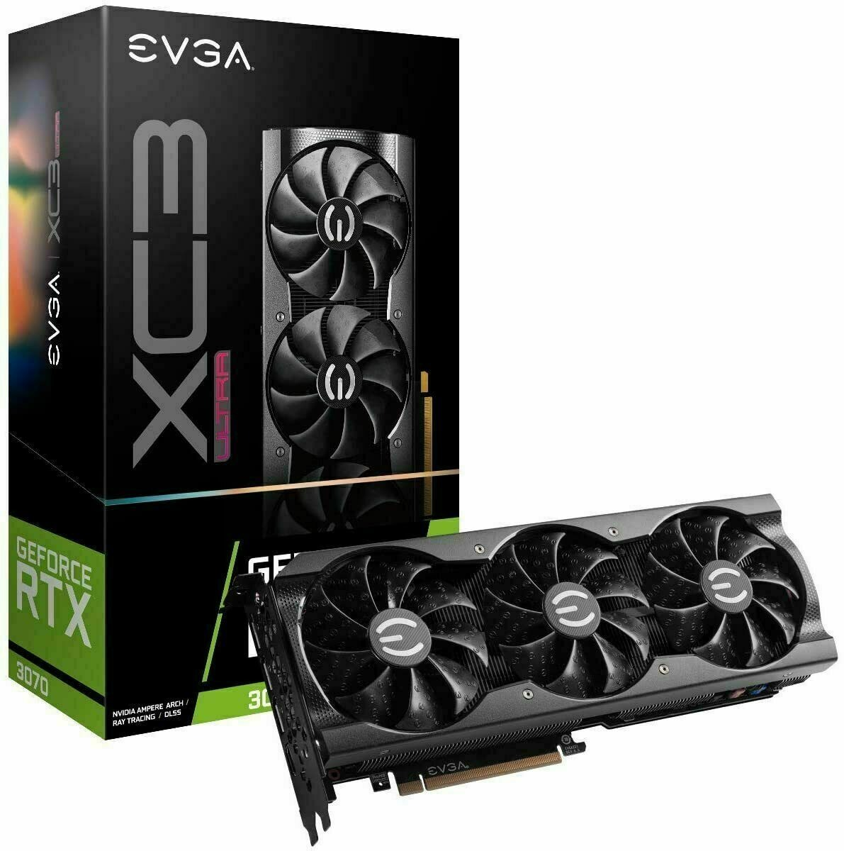 Placa de Vídeo RTX 3070 XC3 Ultra Gaming 8GB EVGA
